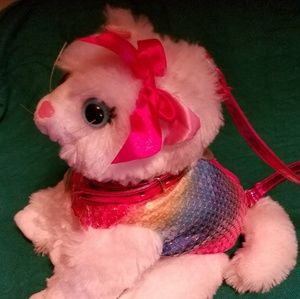 Other - Purse dog plush w/sequin vest